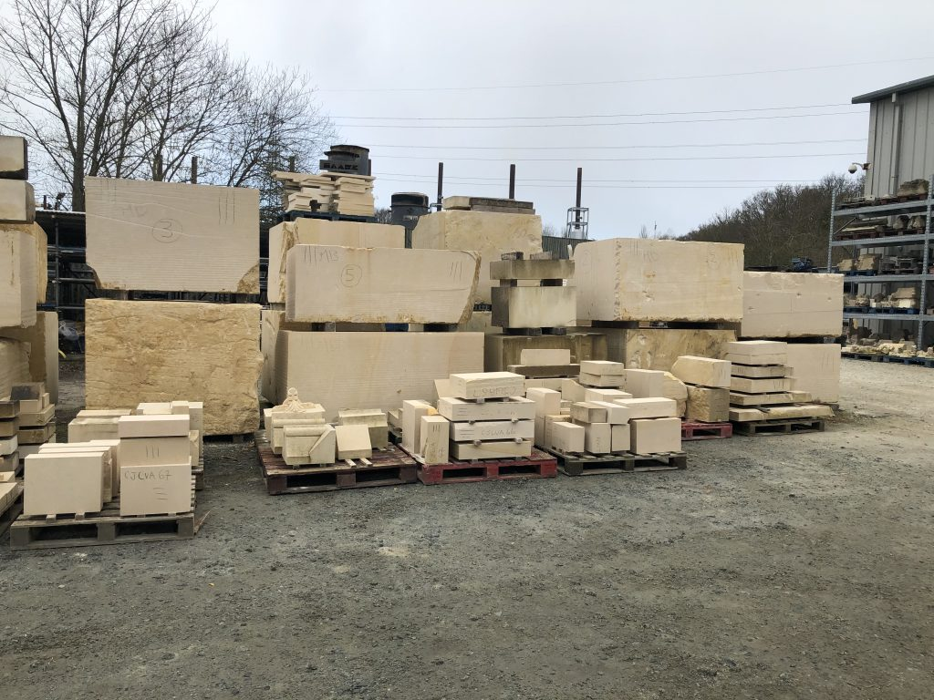French limestone blocks for Canterbury Cathedral