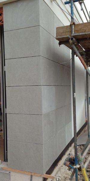 French Limestone Installation