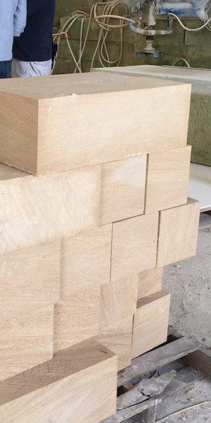 French limestone six sides sawn blocks