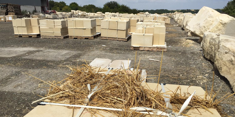Vassens French limestone blocks