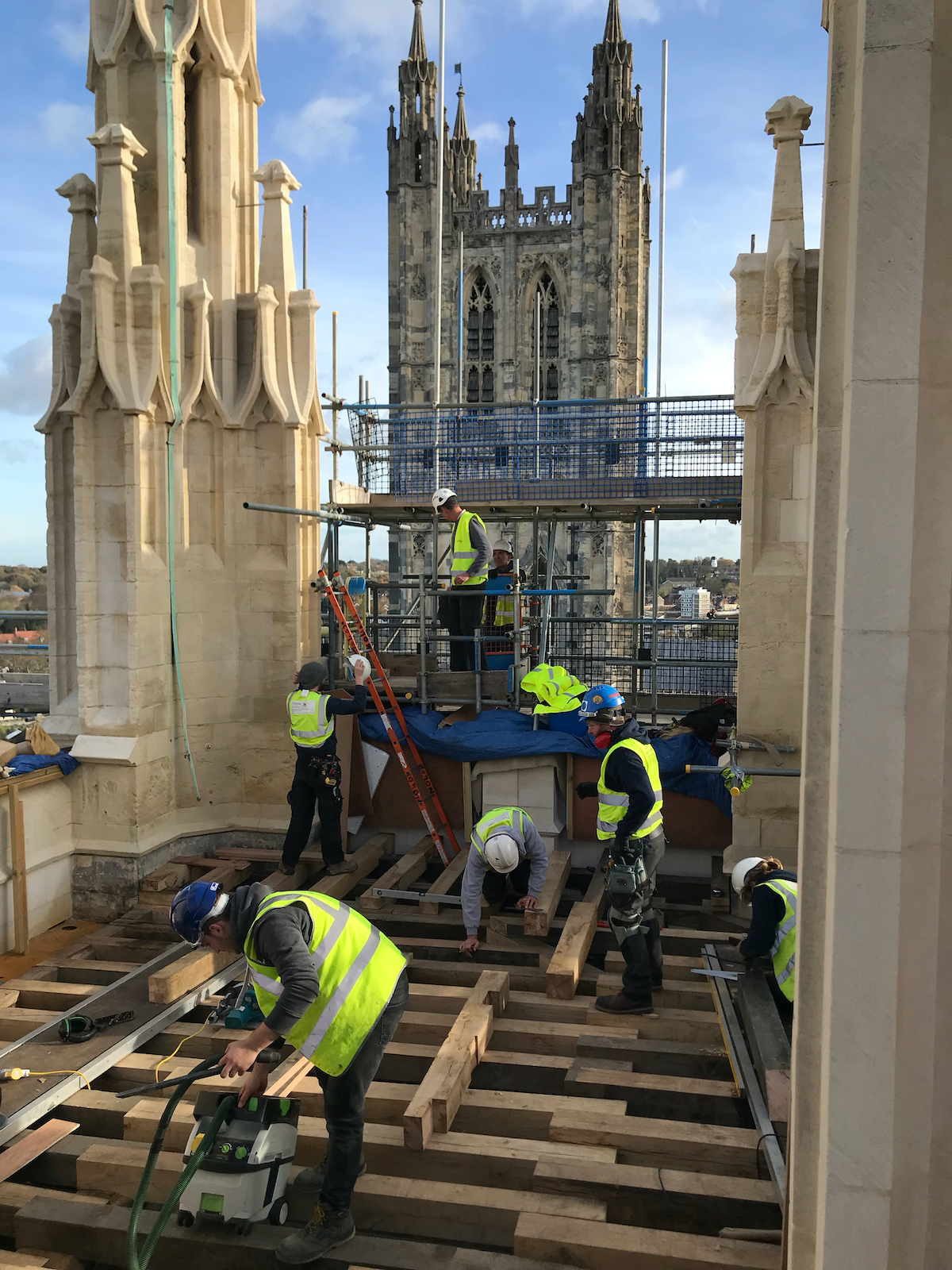 Lavoux French Limestone at Canterbury Cathedral