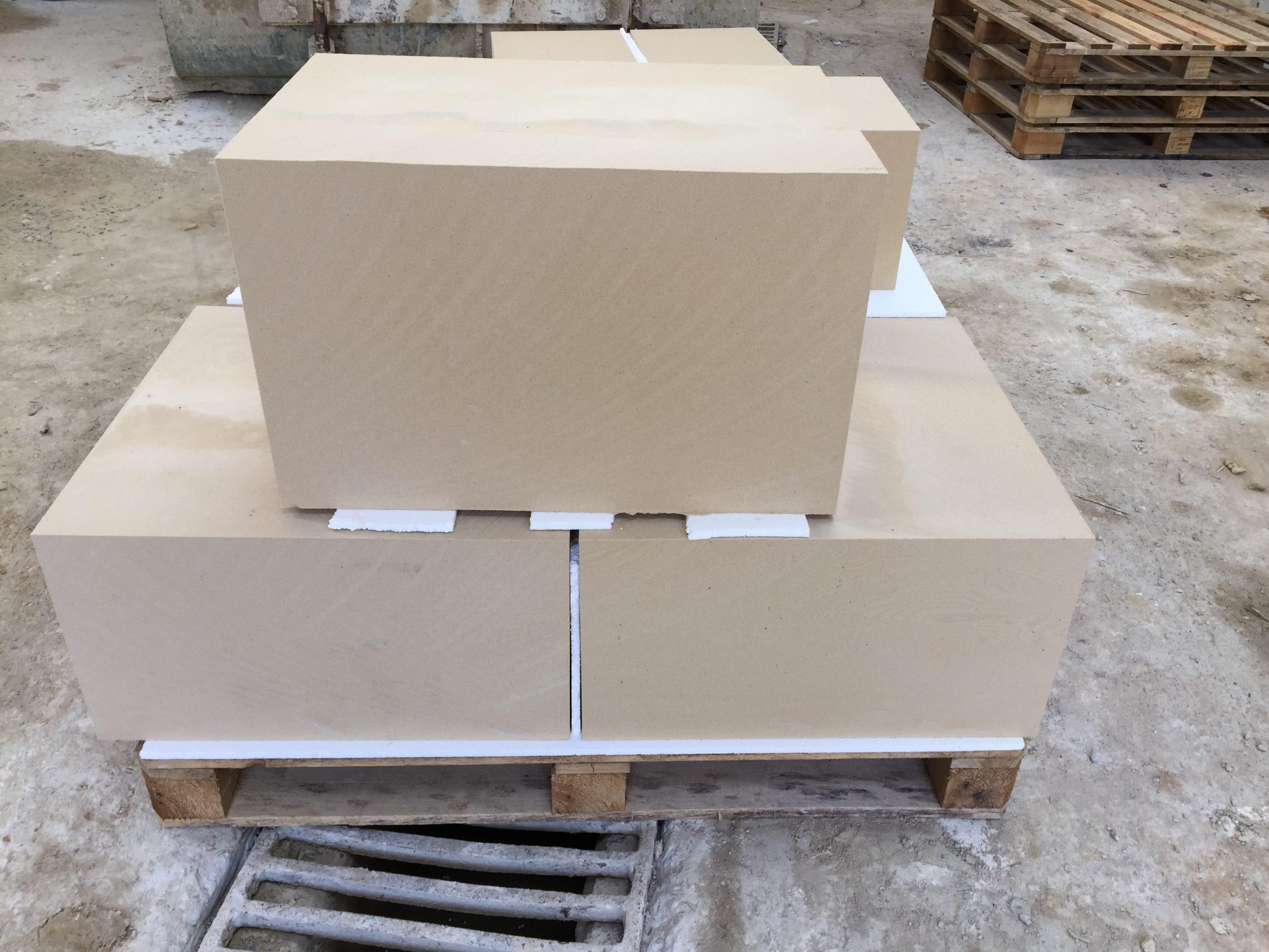 Blocks of Caen French Limestone